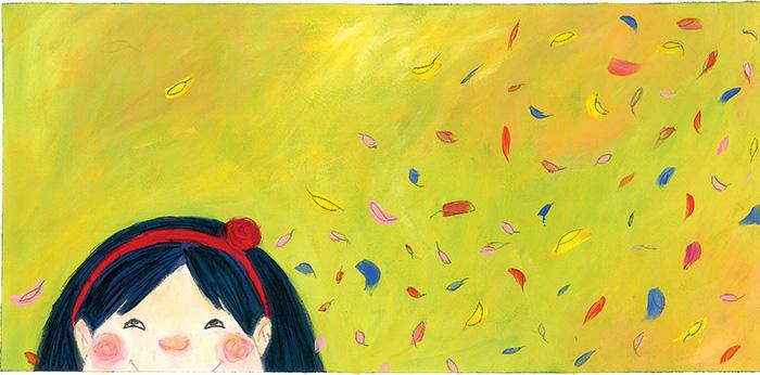 2012 - María cosió una flor roja en la diadema de Mar