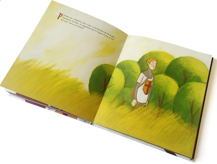 """2015 · Página interior del libro """"Sant Jordi té por del drac!"""""""